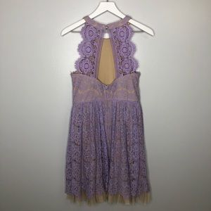 Francesca's Lilac Lace Mini Dress